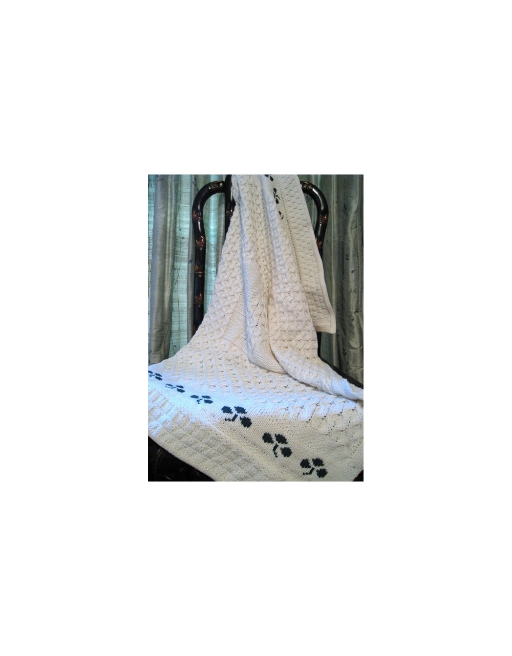 BABY SHAMROCK BLANKET Aran Knitwear Specials Kids Irish Handcrafts