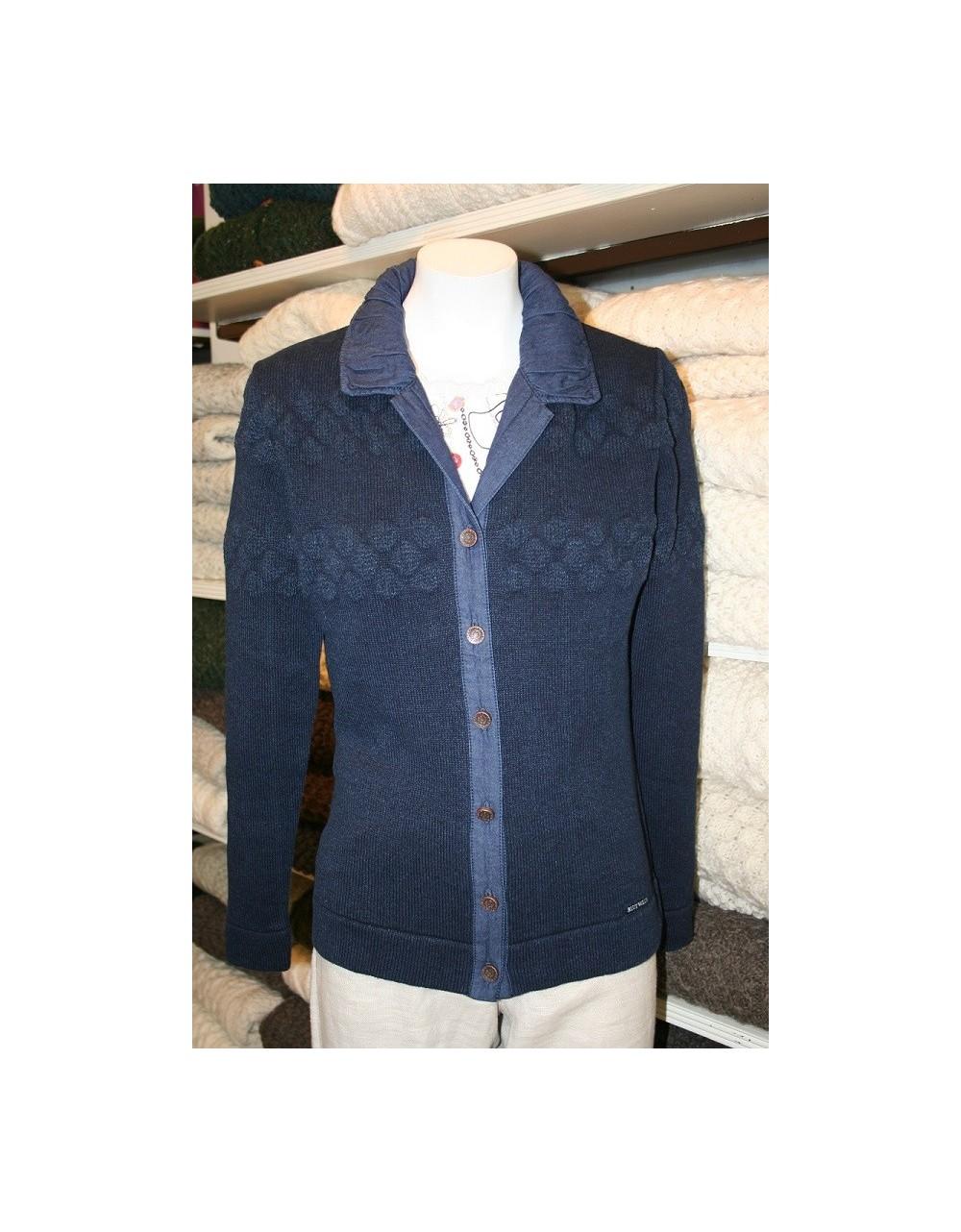 Blue Willi's Special Offer Classic Cardigan Danish Design Knitwear Irish Handcrafts -1