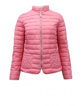 Lebek Reversible Pink Houndstooth Quilted Jacket 71070019 Irish Handcrafts -1