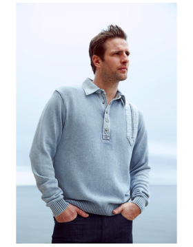 Blue Willis Mans Sweater|Blue Willis|Irish Handcrafts