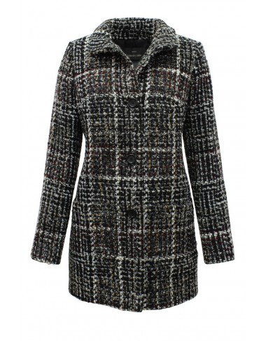 Barbara Lebek Boucle Check Coat|Lebek Fashions|Irish Handcrafts -1