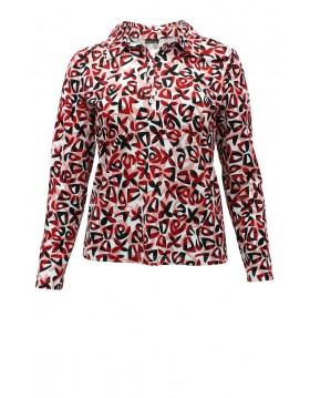 Barbara Lebek Black Roses Shirt|Lebek New Season|Irish Handcrafts