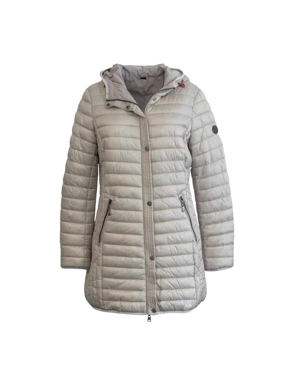 Barbara Lebek Reversible Long Jacket with Hood Outerwear Irish Handcrafts -1