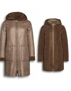 Beaumont Reversible Hooded Long Coat Jacket|Special Offers|Irish Handcrafts -1
