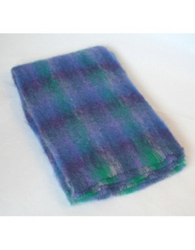 Large Mohair Throw LM566 Blue Lavender Green|Irish Made Throws|Irish Handcrafts 1