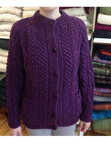 Hand Knit Irish Fishermans Cardigan|Handknitted Arans|Irish Handcrafts -1