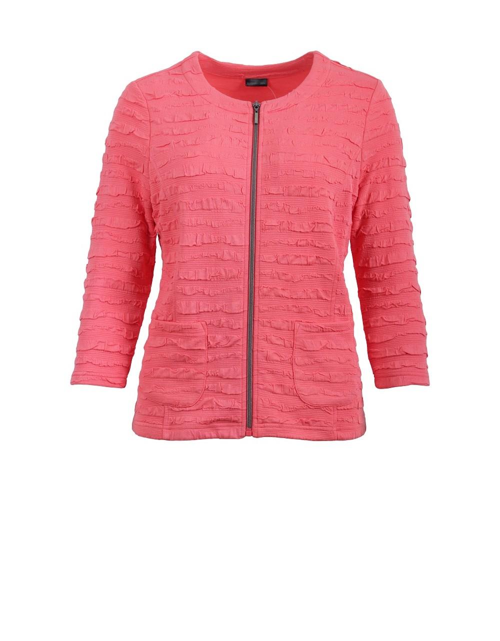Lebek Coral Ruffle Jacket|Lebek Clothing|58080002|Irish Handcrafts