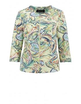 Barbara Lebek Jacket Floral Print|Lebek Blazer|Irish Handcrafts
