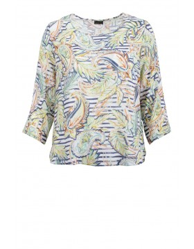 Print Overblouse Barbara Lebek|Lebek Tops|Irish Handcrafts