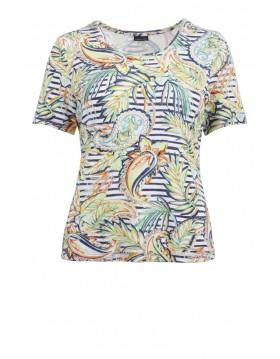 Lebek Yellow Floral Print Top|Barbara Lebek Clothing|Irish Handcrafts