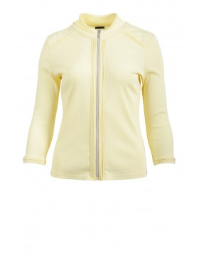 Lebek Yellow Cotton Jacket|Barbara Lebek|65210002|Irish Handcrafts