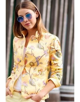 Rofa White Label Linen Jacket - Yellow|White Label|Irish Handcrafts 1
