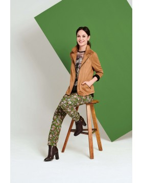 Lebek Taupe Suede Look Jacket 15010002 Womens Outerwear Irish Handcrafts 1