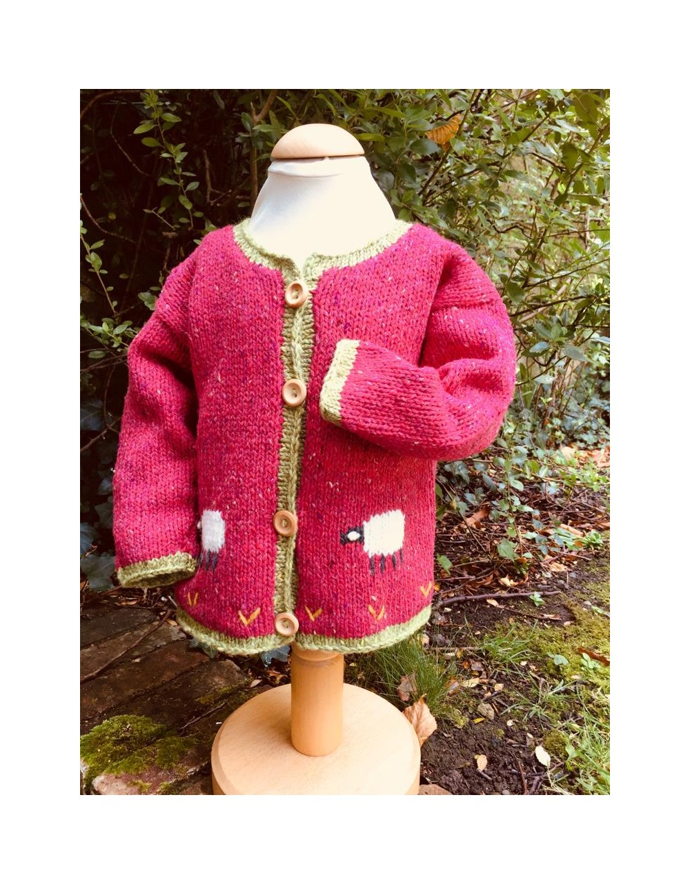 Childs Handmade Sheep Cardigan|Julie Dillon Knitwear|Irish Handcrafts 1