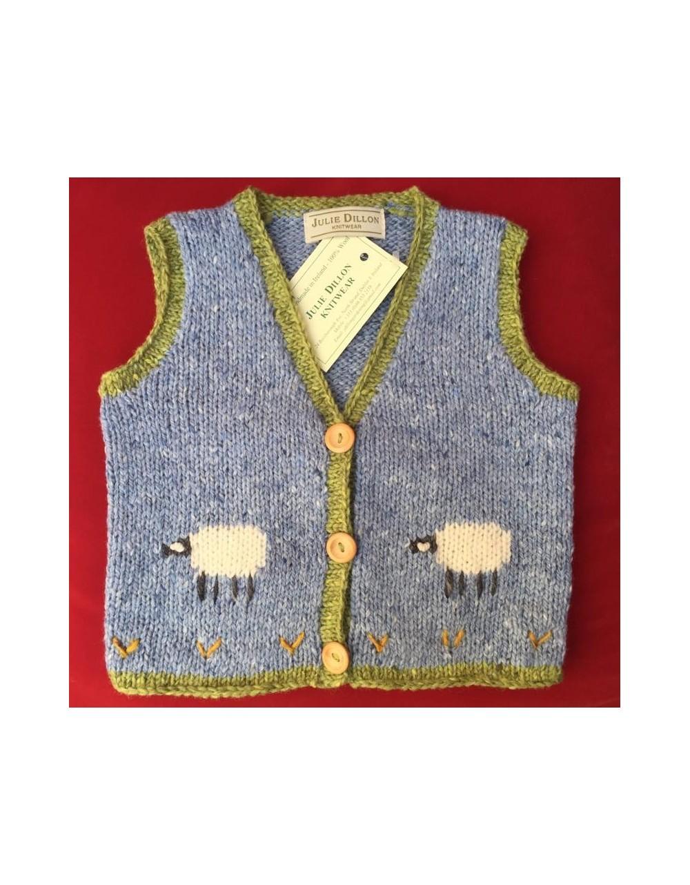 Childs Handmade Sheep Waistcoat|Julie Dillon Knitwear|Irish Handcrafts 1