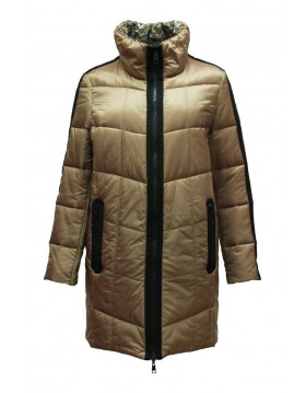 Lebek Quilted Long Jacket Reversible Bronze|Outerwear|Irish Handcrafts 1