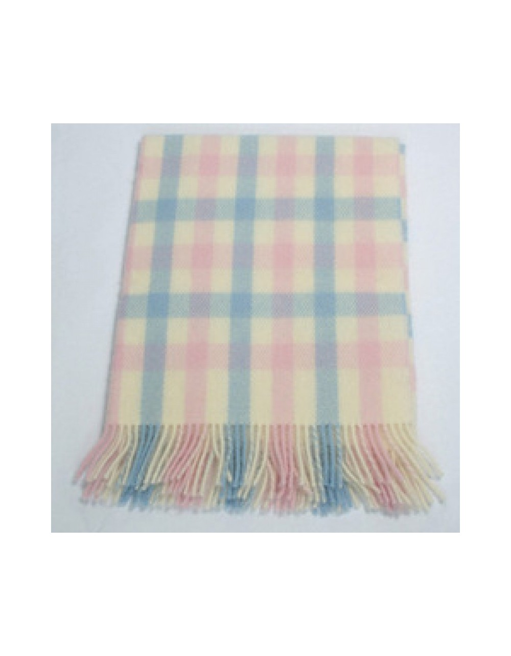 100 Pure Wool Baby Throw Baby Pink Baby Blue Cream Ref Bb2