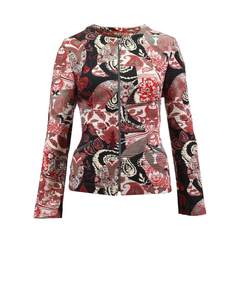 Paisley Lebek Blazer Jacket Barbara Lebek Fashions  Irish Handcrafts 2