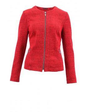 Lebek Cotton Rich Zipped Blazer Jacket Barbara Lebek  Irish Handcrafts
