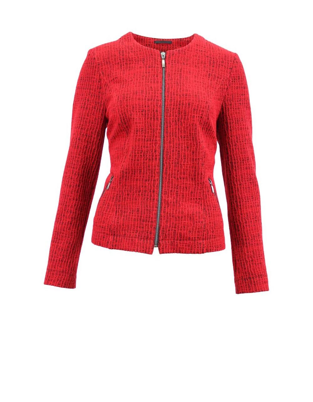 Lebek Cotton Rich Zipped Blazer Jacket|Barbara Lebek |Irish Handcrafts