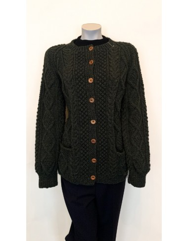 Irish Hand Knit Aran Cardigan Women|Handknitted Arans|Irish Handcrafts 1