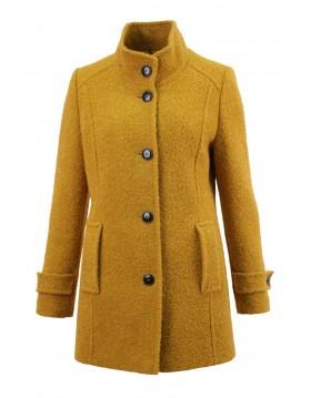 Lebek Mustard Wool Rich Coat|Barbara Lebek Clothing|Irish Handcrafts 1