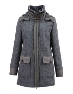 Lebek Wool Coat With Hood|Barbara Lebek Outerwear|Irish Handcrafts 1