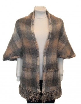 Donegal Design Mohair Pocket Wrap|Capes Wraps & Pocket Shawls|Irish Handcrafts 1
