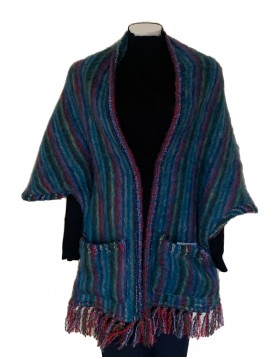 Donegal Design Mohair Pocket Wrap|Mohair Shawls and Wraps|Irish Handcrafts 1