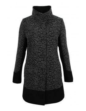 Lebek Wool Coat Jacquard Design|Barbara Lebek Clothing|Irish Handcrafts 1