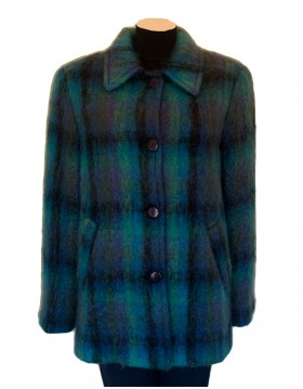 Donegal Design Short Mohair Coat Blue|Irish Made|Irish Handcrafts 1