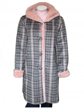 ReveR Check Coat with Faux Fur Lining|ReveR Outwear|Irish Handcrafts 1