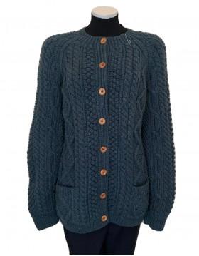 Irish Hand Knit Cardigan Women|Hand Knitted Irish Sweaters|Irish Handcrafts 1