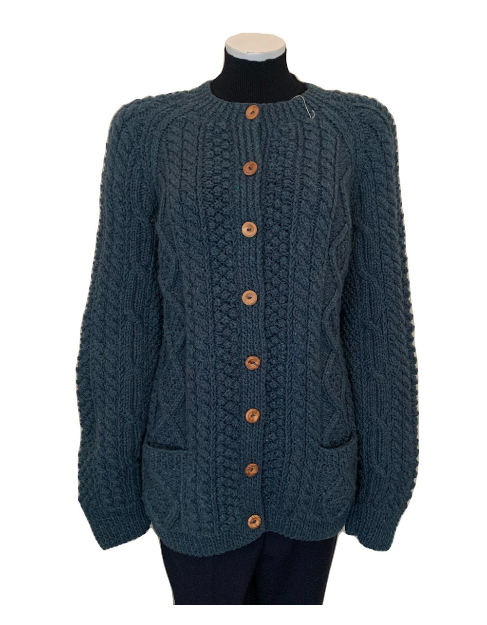 Irish Hand Knit Cardigan Women Hand Knitted Irish Sweaters Irish Handcrafts 1