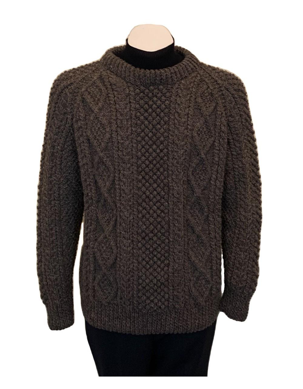 Unisex Irish Aran Fisherman Sweater Handknitted Arans Irish Handcrafts 1