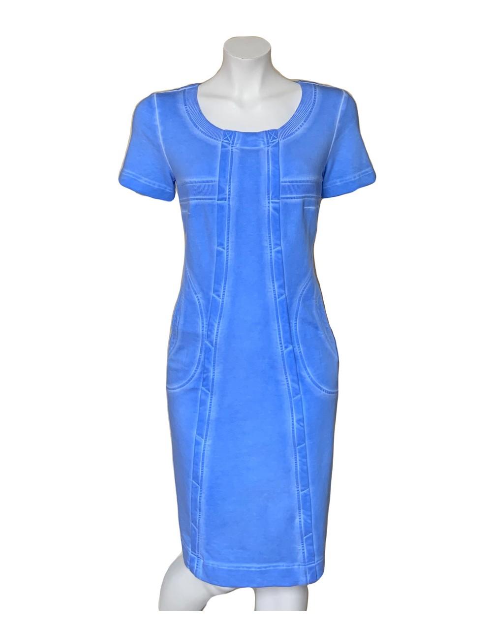 Sky Blue Short Sleeve Denim dress|Our Denim Outwear|Irish Handcrafts 1