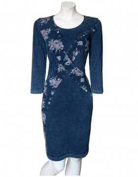 Flora Print Denim Dress|Dresses|Irish Handcrafts 1