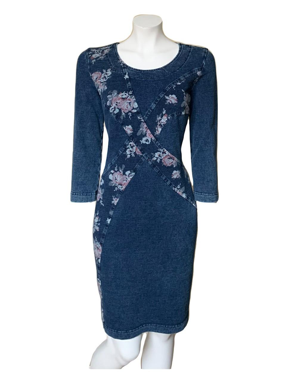 Flora Print Denim Dress|Dresses|Irish Handcrafts 1