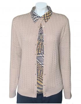 Castle of Ireland Oatmeal Baby Cable Lumbar Cardigan|Castle Knitwear|Irish Handcrafts 1