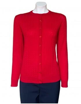 Castle Knitwear Cherry  Baby Cable Cardigan|Castle Knitwear|Irish Handcrafts -1