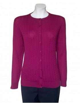 Castle Knitwear Cranberry Baby Cable Lumbar Cardigan|Castle Knitwear|Irish Handcrafts -2