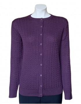 Castle Knitwear Grape Baby Cable Lumber Cardigan|Castle Knitwear|Irish Handcrafts 1