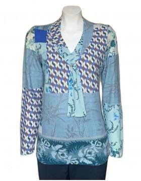 Olga Santoni v neck spring top|Olga Santoni Clothing|Irish Handcrafts 1