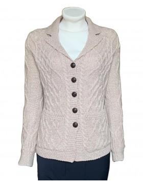 Aran Style Classic Cardigan|Aran Sweaters Women|Irish Handcrafts 1
