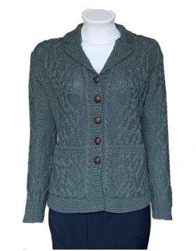 Aran craft classic button up cardigan|Irish Handcrafts 1