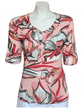 Barbara Lebek V neck floral Pattern Top Tops Blouses & Accessories Irish Handcrafts 1