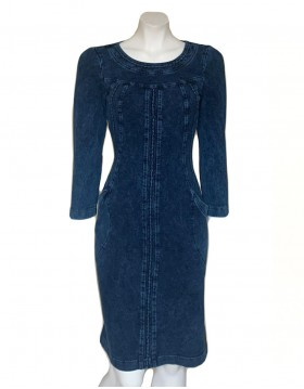 Denim Dress With kick pleat detail|Denim Collection|Irish Handcrafts 1