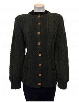Irish Hand Knit Aran Cardigan Women|Handknitted Arans|Irish Handcrafts 1