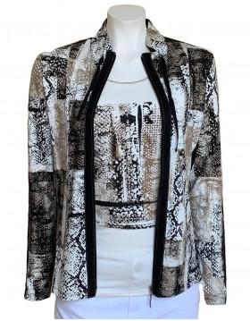 Lebek Abstract Print Jacket & Top Combination|Lebek Clothing|Irish Handcrafts 1