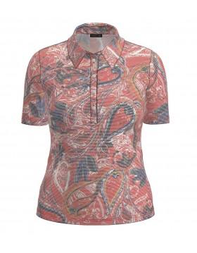 Barbara Lebek Paisley Polo Shirt|Lebek Clothing|Irish Handcrafts